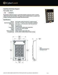 AK-01 Spec Sheet PDF