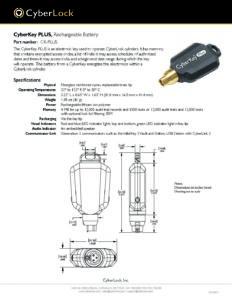 CK-PLUS Spec Sheet PDF