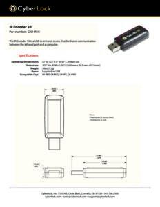CKB-IR10 Spec Sheet PDF