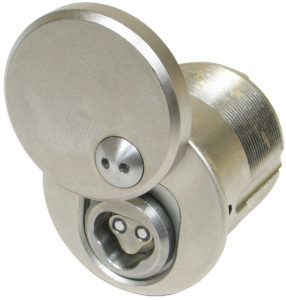 "CyberLock CL-M4C Cylinder, Mortise Format, 1.25"", with Cover"