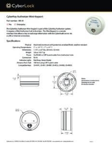 MK-01 Spec Sheet PDF