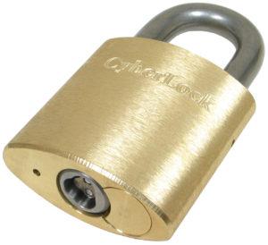 """CyberLock PL-01KR-A Padlock, 1"""" Shackle, Key-Retaining"""