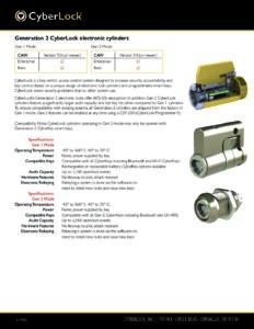 Gen 2 Spec Sheet