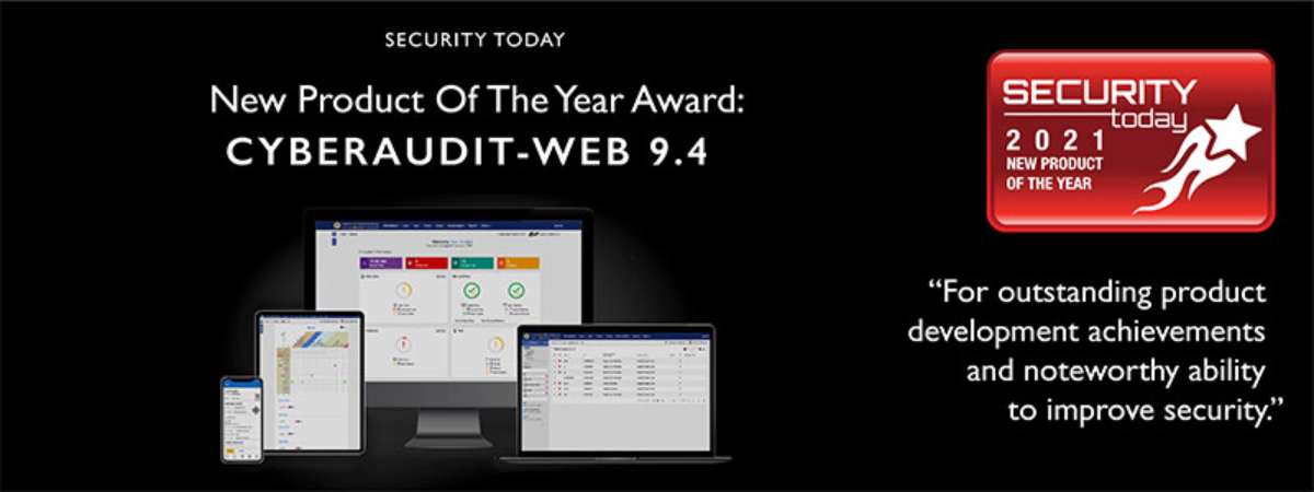 CyberAudit-Web 9.4 Wins Security Today New Product of the Year Award